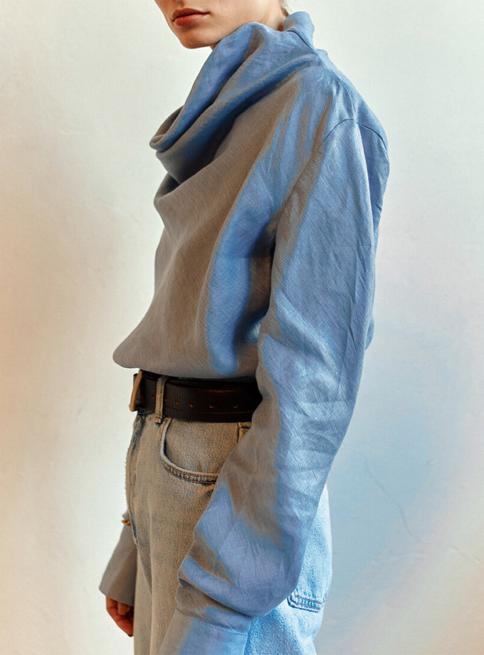 Льняная блуза AD_010720, фото 1 - в интернет магазине KAPSULA