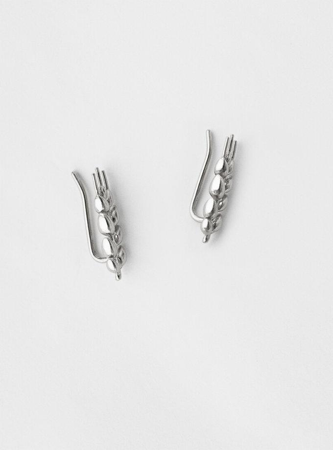Серебряные серьги Колоски короткие KVL_КРР03_s, фото 1 - в интеренет магазине KAPSULA