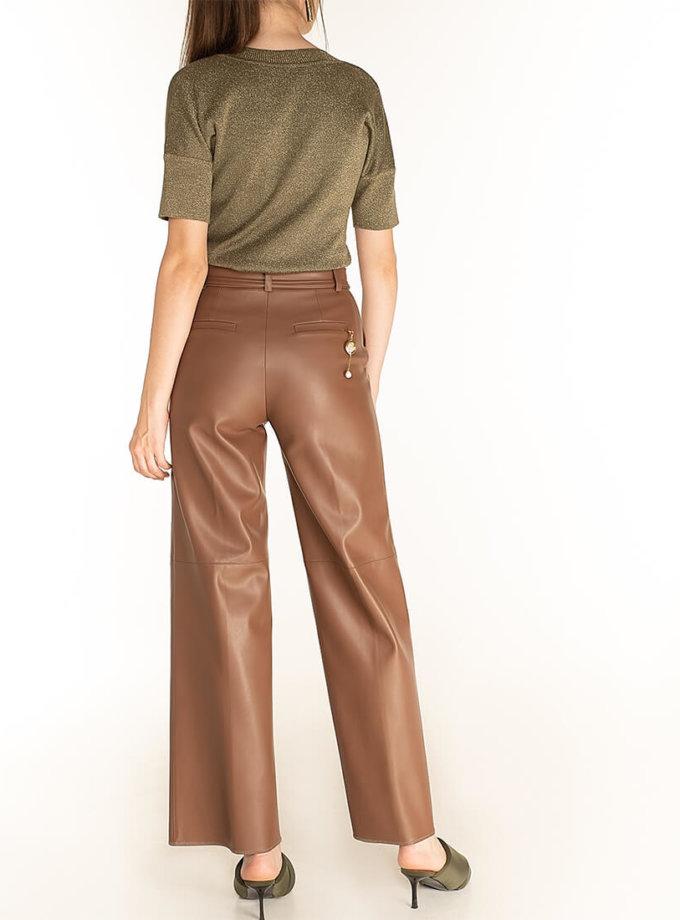 Широкие брюки из эко-кожи Brown WNDR_fw2021_wtbr_08, фото 1 - в интернет магазине KAPSULA