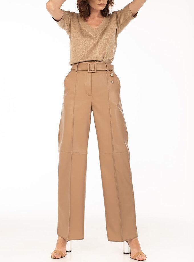 Широкие брюки из эко-кожи Caramel WNDR_fw2021_wtcar_08, фото 1 - в интеренет магазине KAPSULA