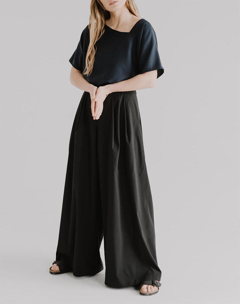 Широкие брюки EVE с молнией сзади FRM_XIM_01C_B, фото 1 - в интернет магазине KAPSULA