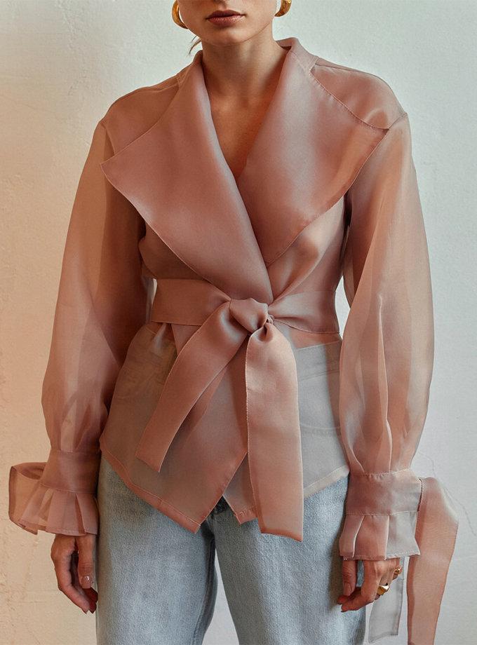 Полупрозрачная блуза на запах AD_040720, фото 1 - в интернет магазине KAPSULA