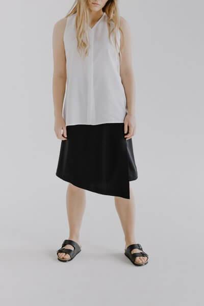 Асимметричная юбка HLI на запах FRM_XIM_02А_B, фото 1 - в интеренет магазине KAPSULA