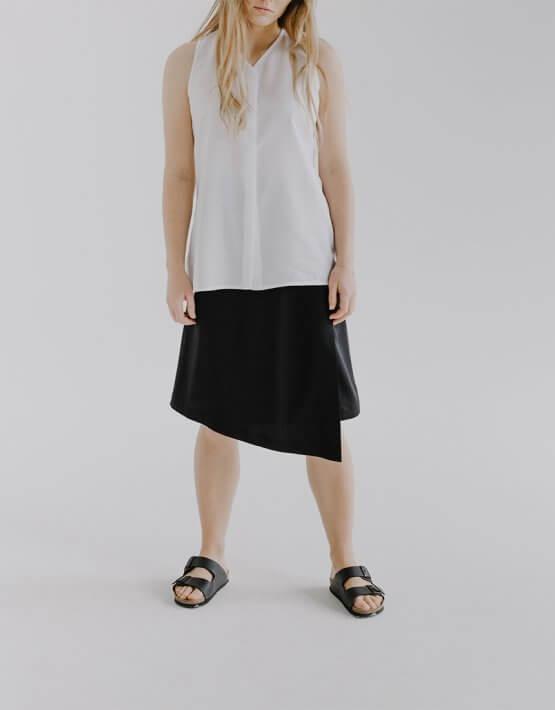 Асимметричная юбка HLI на запах FRM_XIM_02А_B, фото 2 - в интеренет магазине KAPSULA