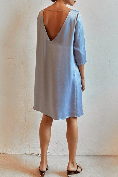 Платье с V-вырезом сзади AD_120720, фото 1 - в интеренет магазине KAPSULA