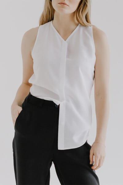 Блуза без рукавов DAWB FRM_XIM_03А_W, фото 1 - в интеренет магазине KAPSULA