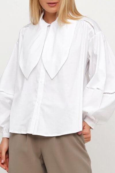 Хлопковая рубашка с завязками AY_3030, фото 4 - в интеренет магазине KAPSULA