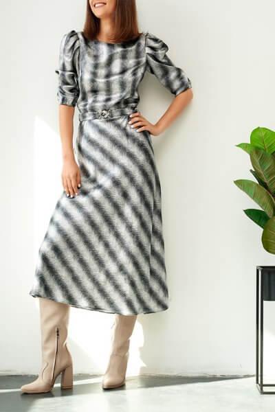 Платье с объемными руками KS_FW-23-11, фото 3 - в интеренет магазине KAPSULA
