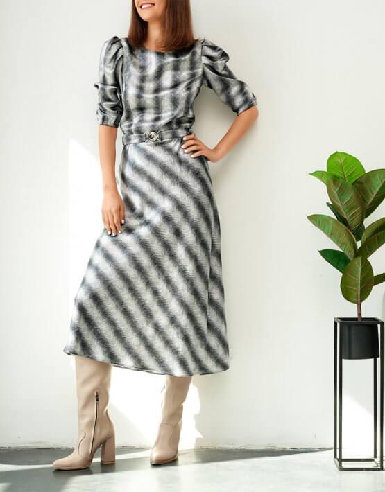 Платье с объемными руками KS_FW-23-11, фото 5 - в интеренет магазине KAPSULA