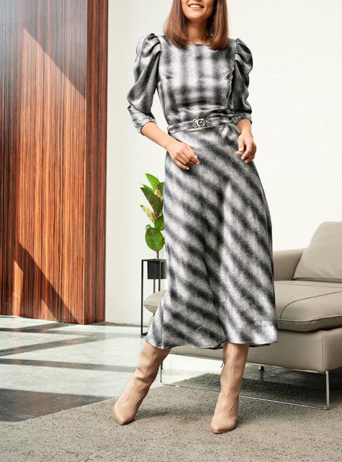 Платье с объемными руками KS_FW-23-11, фото 1 - в интернет магазине KAPSULA