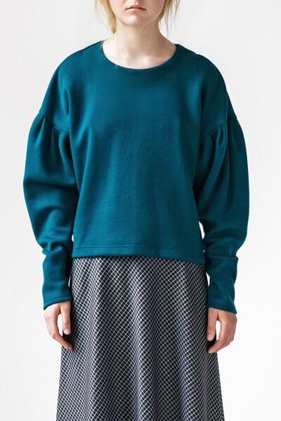 Свитшот Easy с объемными рукавами SNDR_FWE7_blue, фото 1 - в интеренет магазине KAPSULA