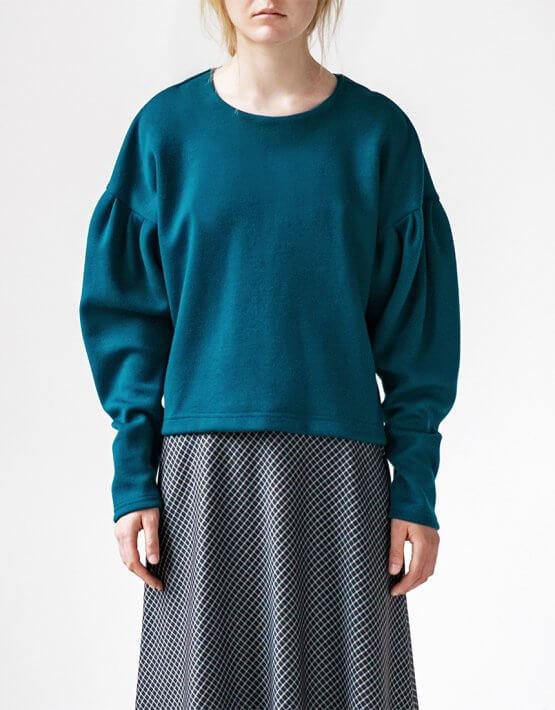 Свитшот Easy с объемными рукавами SNDR_FWE7_blue, фото 4 - в интеренет магазине KAPSULA