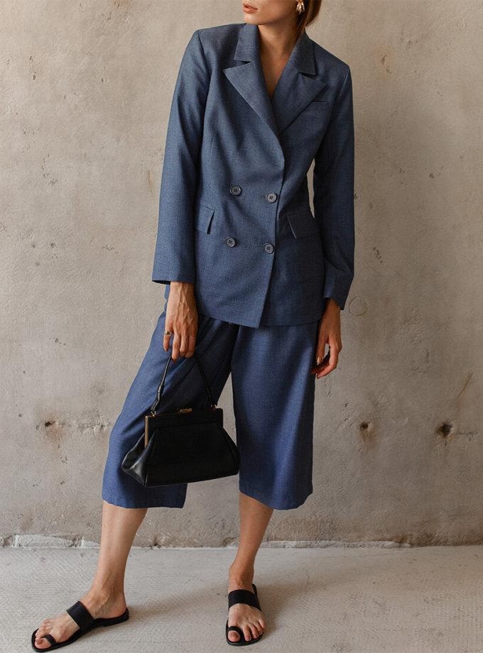 Укороченные брюки на высокой посадке AD_180720, фото 1 - в интеренет магазине KAPSULA