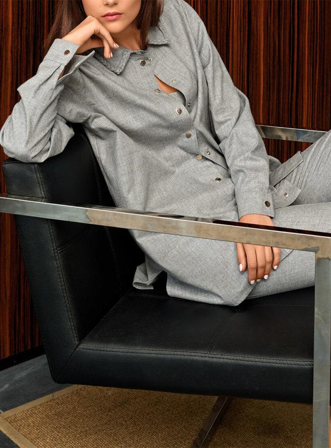Рубашка свободного кроя из хлопка KS_FW-23-12, фото 1 - в интеренет магазине KAPSULA