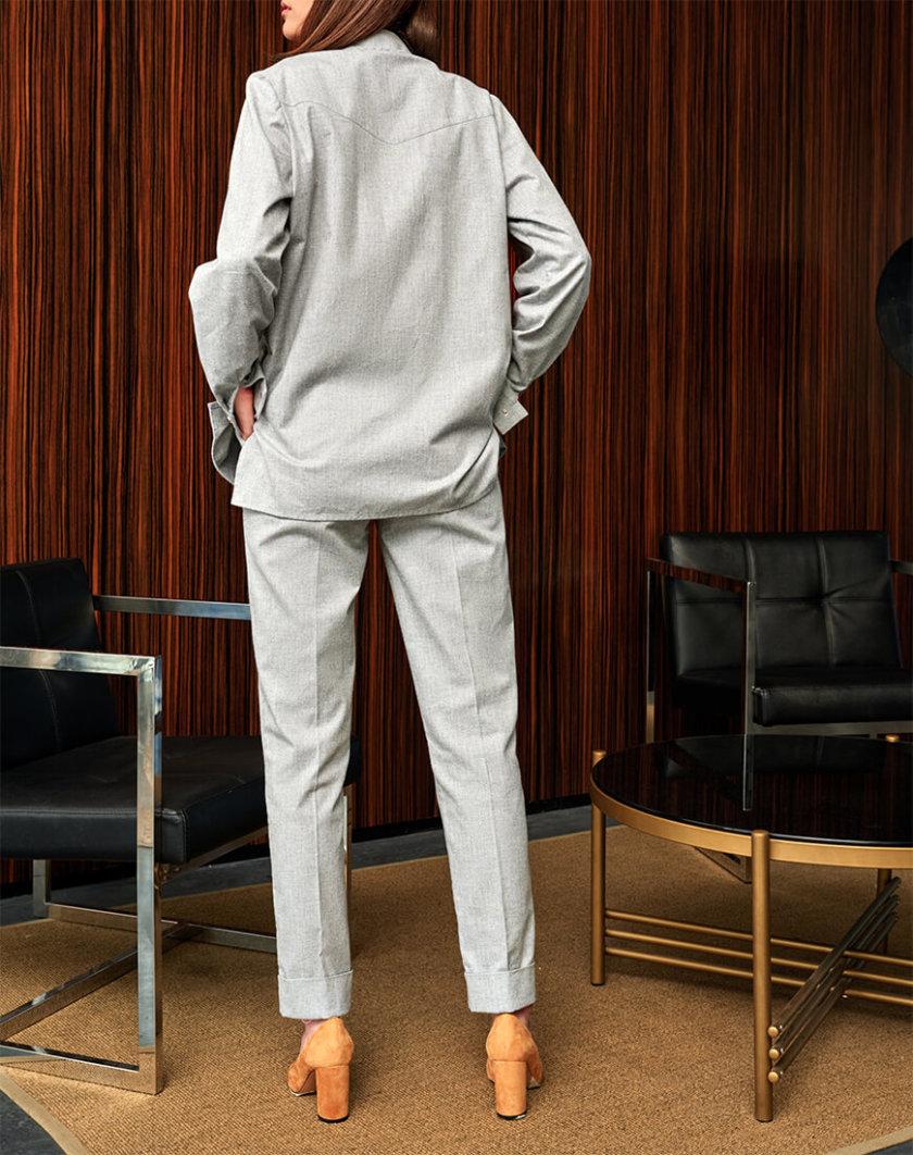 Рубашка свободного кроя из хлопка KS_FW-23-12, фото 1 - в интернет магазине KAPSULA