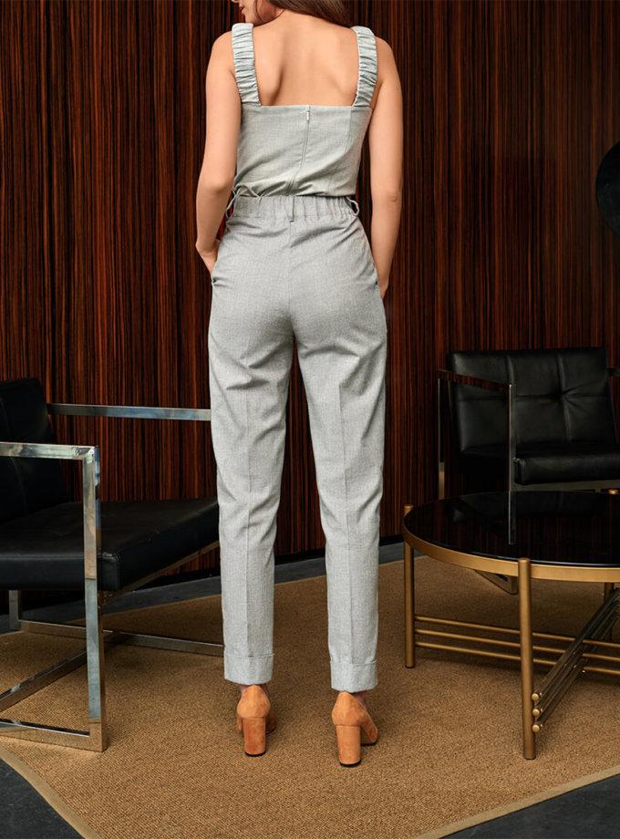 Хлопковые брюки с завышенной талией KS_FW-23-13, фото 1 - в интеренет магазине KAPSULA