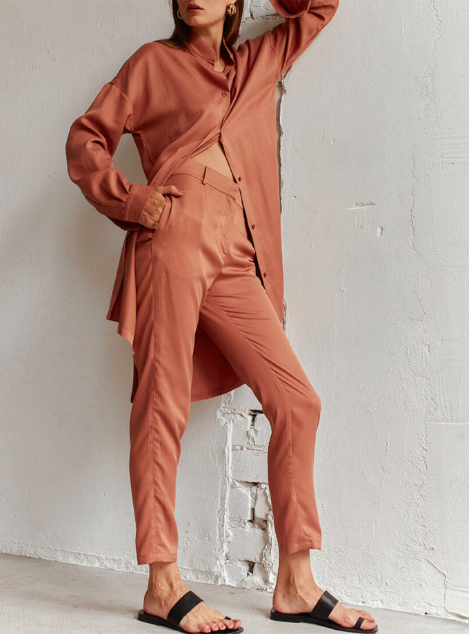 Узкие брюки из тенсела AD_220720, фото 1 - в интеренет магазине KAPSULA