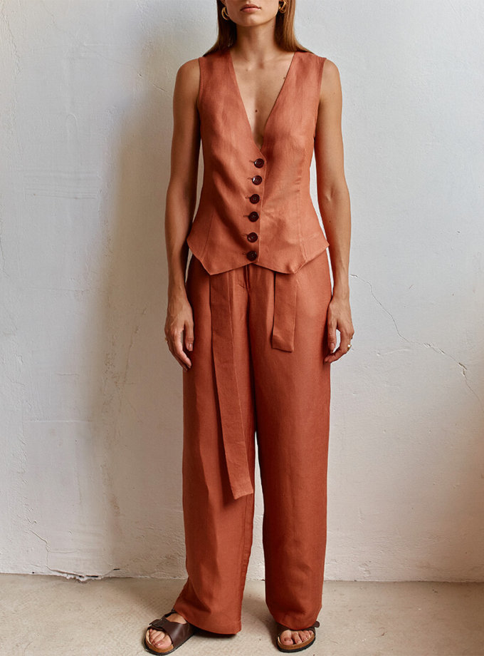 Широкие брюки на высокой посадке AD_250720, фото 1 - в интеренет магазине KAPSULA