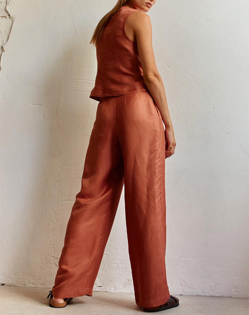 Широкие брюки на высокой посадке AD_250720, фото 1 - в интернет магазине KAPSULA
