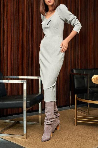 Платье  с декоративным лифом KS_FW-23-02, фото 4 - в интеренет магазине KAPSULA