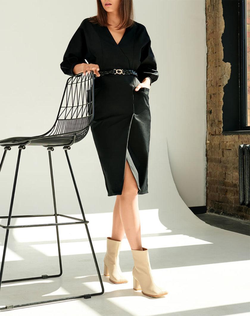 Платье из денима с поясом KS_FW-23-17, фото 1 - в интернет магазине KAPSULA