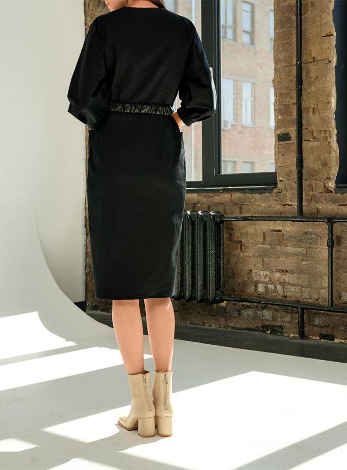 Платье из денима с поясом KS_FW-23-17, фото 1 - в интеренет магазине KAPSULA