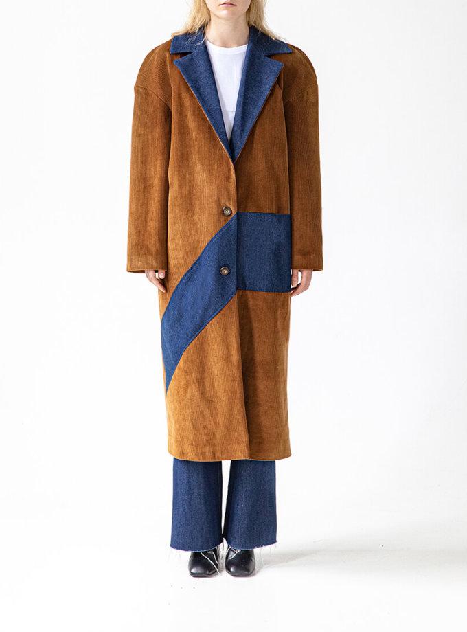Комбинированное пальто Easy SNDR_FWE14, фото 1 - в интернет магазине KAPSULA