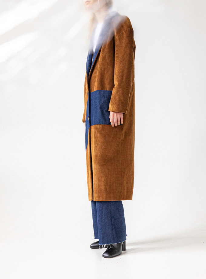 Комбинированное пальто Easy SNDR_FWE14, фото 1 - в интеренет магазине KAPSULA