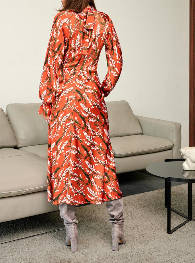 Платье миди в цветочный принт KS_FW-23-20, фото 1 - в интеренет магазине KAPSULA