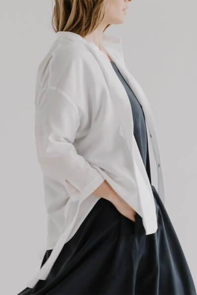 Рубашка свободного кроя LUV FRM_XIM_05B_W, фото 1 - в интеренет магазине KAPSULA