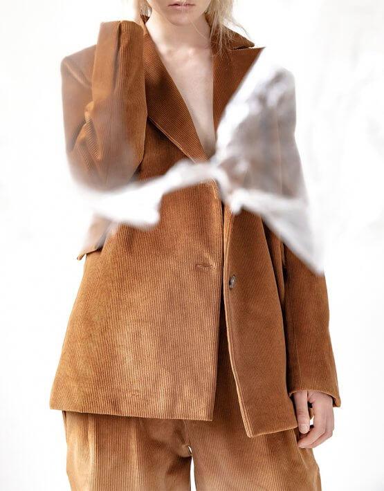 Вельветовый жакет Easy из хлопка SNDR_FWE16, фото 4 - в интеренет магазине KAPSULA