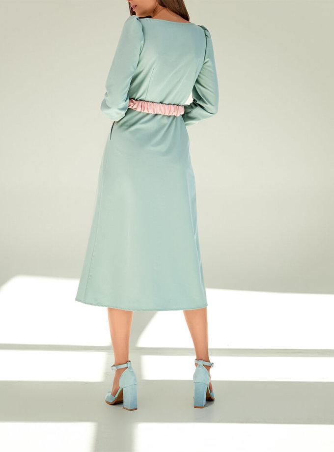 Платье с контрастным поясом KS_FW-23-21, фото 1 - в интеренет магазине KAPSULA