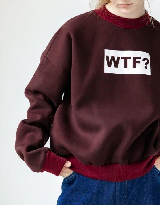 Свитшот WTF Easy оверсайз короткий SNDR_FWE18, фото 2 - в интеренет магазине KAPSULA