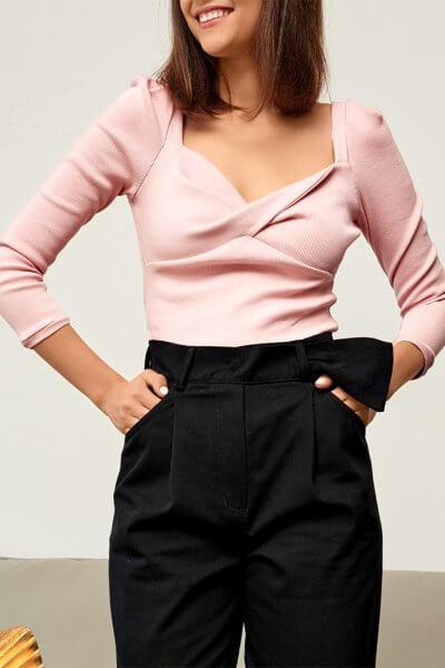 Блуза из трикотажа KS_FW-23-24, фото 1 - в интеренет магазине KAPSULA