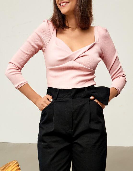Блуза из трикотажа KS_FW-23-24, фото 2 - в интеренет магазине KAPSULA