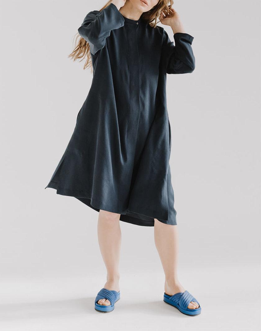 Платье свободного кроя LOOJ FRM_XIM_06A_N, фото 1 - в интернет магазине KAPSULA