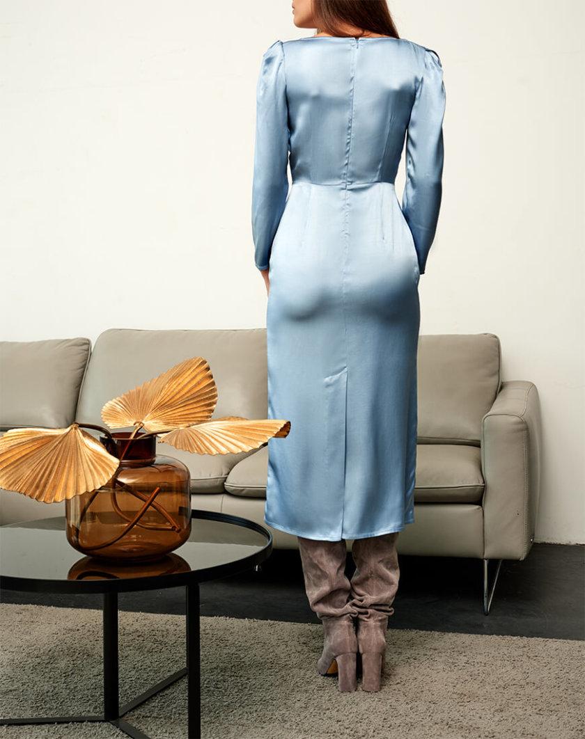Платье с лифом на запах KS_FW-23-25, фото 1 - в интернет магазине KAPSULA