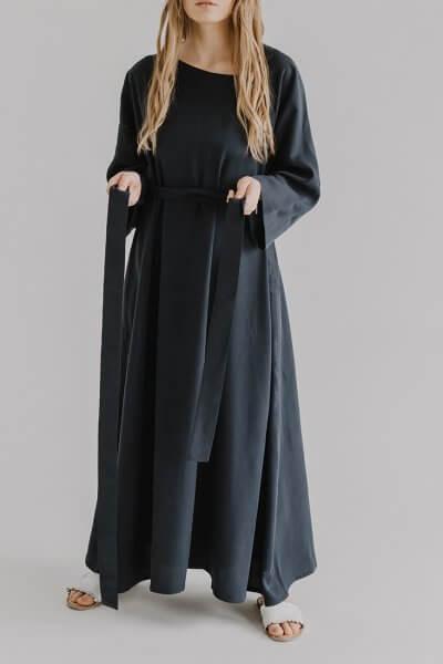 Платье макси с поясом KIAB FRM_XIM_06B_N, фото 1 - в интеренет магазине KAPSULA