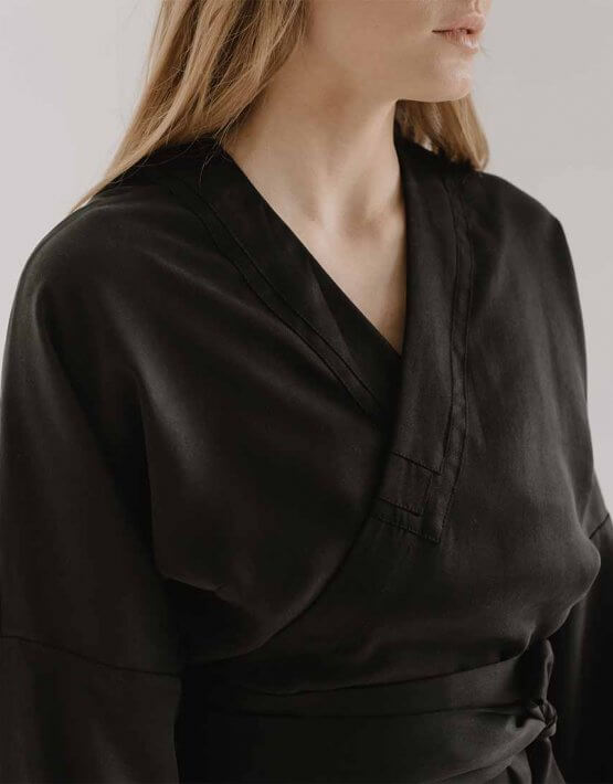 Платье на запах ZOOV FRM_XIM_06D_B, фото 8 - в интеренет магазине KAPSULA