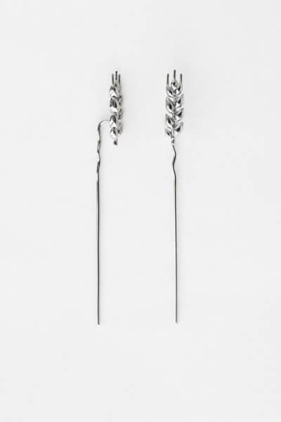 Серьги серебряные Колоски длинные KVL_КРР02_s, фото 6 - в интеренет магазине KAPSULA