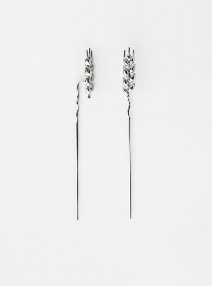 Серьги серебряные Колоски длинные KVL_КРР02_s, фото 1 - в интеренет магазине KAPSULA