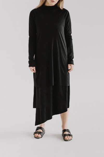 Асимметричное платье LUNG FRM_XIM_06E_BL, фото 3 - в интеренет магазине KAPSULA