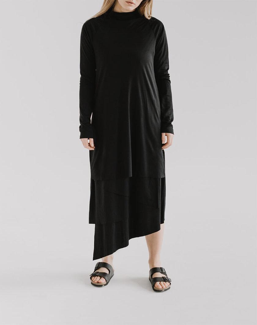 Асимметричное платье LUNG FRM_XIM_06E_BL, фото 1 - в интернет магазине KAPSULA