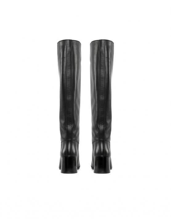 Высокие сапоги из кожи MRSL_946401, фото 4 - в интеренет магазине KAPSULA