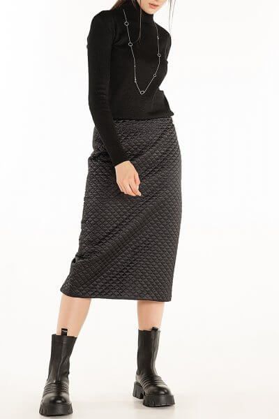 Стеганая юбка Black WNDR_fw2021_qsblck_11, фото 1 - в интеренет магазине KAPSULA