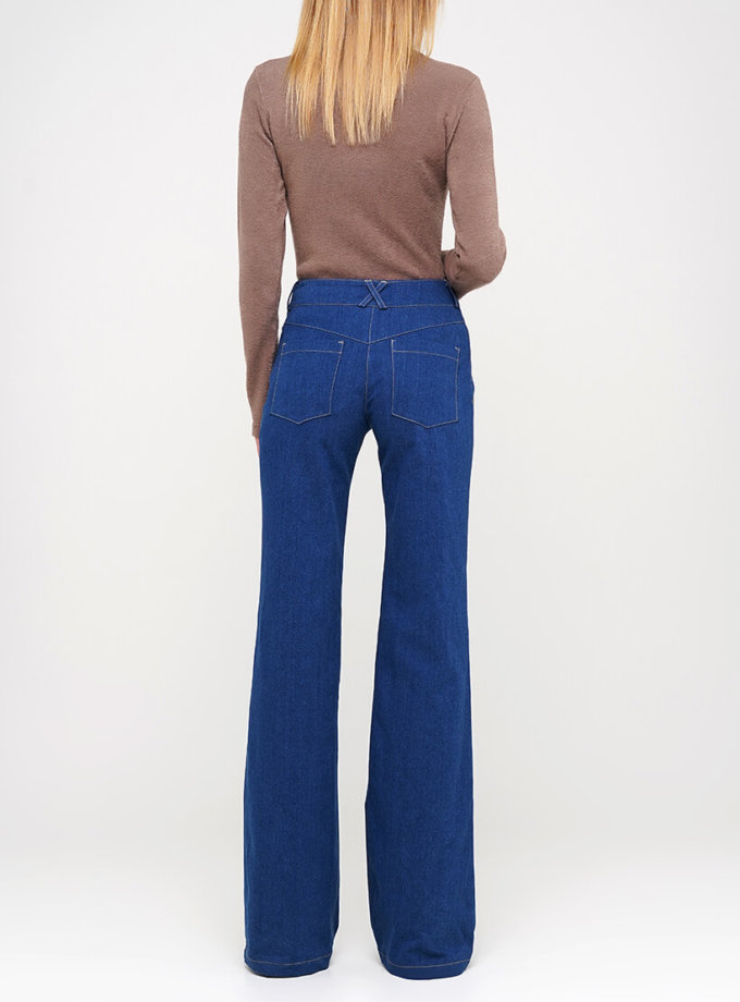 Джинсы-клёш с карманами AY_3032, фото 1 - в интернет магазине KAPSULA
