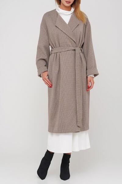 Свободное пальто на кнопках из шерсти AY_3035, фото 1 - в интеренет магазине KAPSULA