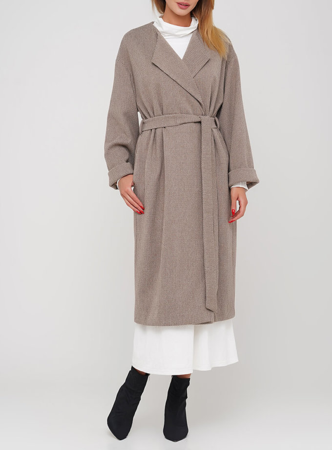 Свободное пальто на кнопках из шерсти AY_3035, фото 1 - в интернет магазине KAPSULA