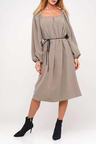 Хлопковое платье с объемными рукавами AY_3037, фото 5 - в интеренет магазине KAPSULA