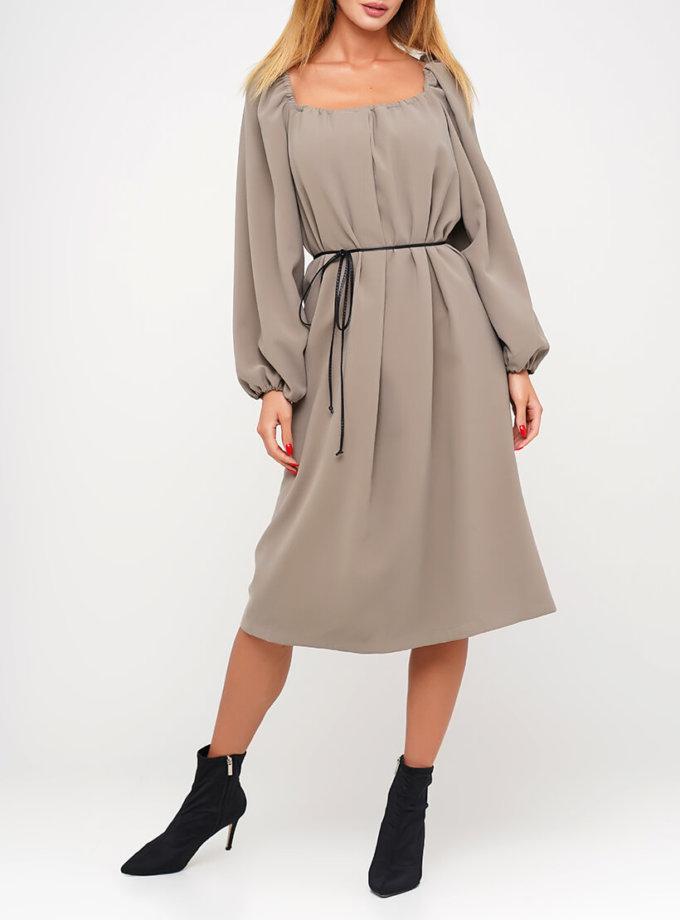 Хлопковое платье с объемными рукавами AY_3037, фото 1 - в интеренет магазине KAPSULA
